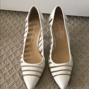 Off white Jessica Simpson heels